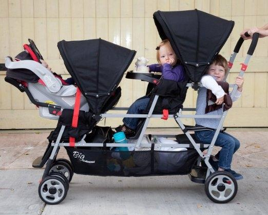 triple stroller with car seats